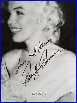 MARILYN MONROE Signed Autographed Inscribed 8 x 10 Photo