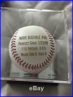 MARK BUEHRLE PERFECT GAME Inscribed PG 7-23-09 AUTOGRAPHED MLB Authenticated