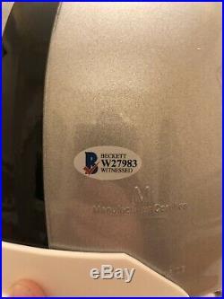 Marcus Allen Autographed & Inscribed Full Size Raiders Helmet Beckett COA HOF