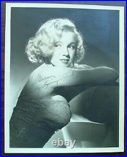 Marilyn Monroe Inscribed Signed 8 x 10 Double Weight Matte Finish Photo PSA COA