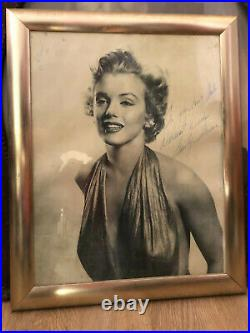 Marilyn Monroe photograph Signed Inscribed to John, Iris, and Sheila