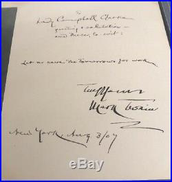 Mark Twain Inscribed Quote Photo Signed Auto Autograph Psa/dna Samuel Clemens