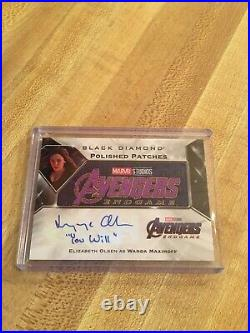 Marvel Black Diamond Elizabeth Olsen Patches Inscribed You Will Auto /25 Wanda