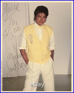 Michael Jackson Autographed 8x10 Photo Inscribed to Bob Giraldi -Beckett COA