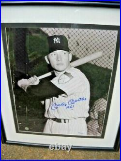 Mickey Mantle Autographed 16 X 20 Photo Jsa Certified Inscribed 1951, #2/7