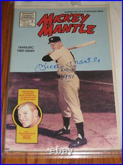 Mickey Mantle Autographed First Issue #1 Comic Inscribed No. 6 1951 JSA LOA