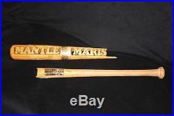 Mickey Mantle Autographed Inscribed Broken Batsmith Carved Baseball Bat Jsa Cert