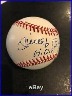 Mickey Mantle HOF 1974 Inscribed Autographed Signed Baseball Ball PSA LOA