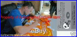 Mike Alstott signed autographed inscribed Buccaneers 1996 rookie orange jersey