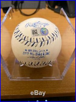 Mike Trout 1st ASG Autographed Inscribed 2012 MLB All Star Game Baseball