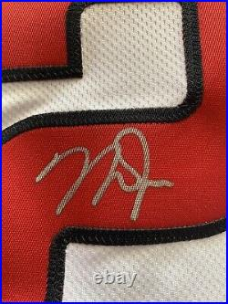 Mike Trout Autographed Nike Jersey Triple Inscribed A. L. MVP. Fanatics Auth
