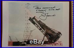 N-1 Soviet Moon rocket photo, Alexei Leonov signed/inscribedWith Best Wishes