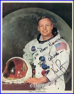 Neil Armstrong Inscribed Printed Photograph Signed In Ink