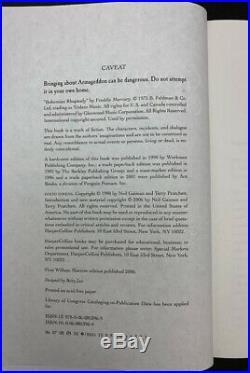 Neil Gaiman SIGNED AUTOGRAPHED Good Omens Anniversary Ed HC 1st Ed 1st Print NEW