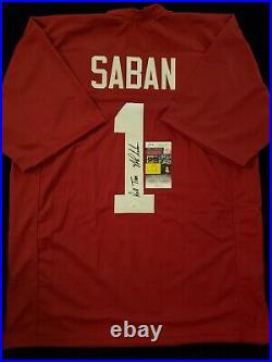 Nick Saban Autograph Signed Alabama Jersey Inscribed Includes Jsa