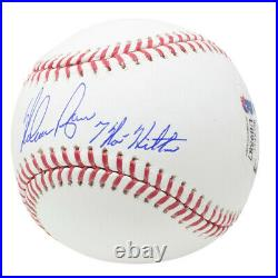 Nolan Ryan Signed Texas Rangers MLB Baseball Inscribed 7 No Hitters BAS
