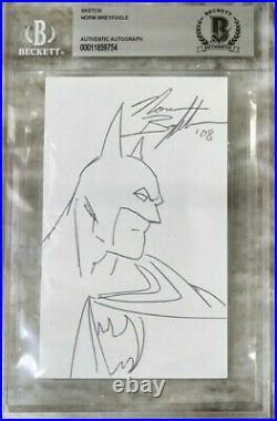 Norm Breyfogle Batman Signed Autograph original sketch Beckett BAS Comic