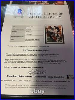 Pat Tillman Auto Autograph SUPER RARE Signed And Inscribed 8x10 Cardinals