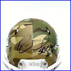 Patrick Mahomes Hand Signed 2019 SB Champ Inscribed Autographed Camo Mini Helmet