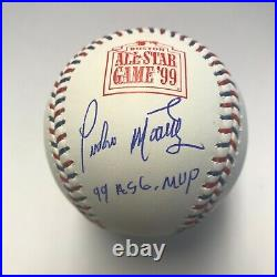 Pedro Martinez Autographed Inscribed Red Sox 1999 All Star Game Baseball Beckett