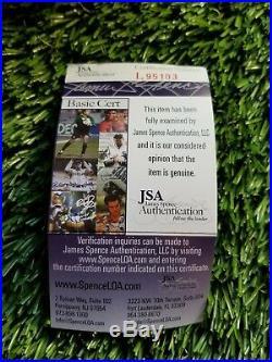 Phil Simms Autographed Super Bowl Mvp Mini Helmet Jsa/coa L95103 Inscribed