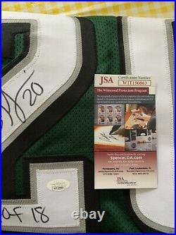 Philadelphia Eagles Brian Dawkins Autographed Jersey Hof 18 Inscribed Jsa Coa