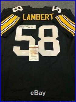 Pittsburgh Steelers Jack Lambert Autographed Signed Inscribed Jersey Jsa Coa