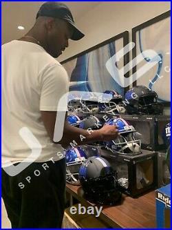 Plaxico Burress autographed inscribed Speed Mini Helmet New York Giants PSA COA