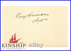 President Benjamin Harrison signed cut JSA LOA Bold Auto Inscribed Z388