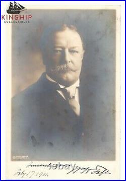 President William Taft signed Sepia Photo JSA LOA Bold Inscribed Auto B643