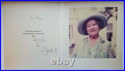Queen Elizabeth II Mother Autograph Inscribed Signed Christmas Card King George