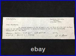 RARE C. S. Lewis typed/handwritten signed note, Narnia Author, Original item