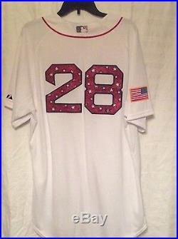 ROBBIE ROSS Jr. GAME USED AUTOGRAPHED BOSTON RED SOX JULY 4 JERSEY INSCRIBED