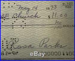 ROSA PARKS Autographed Inscribed Signed Check Document Civil Rights NAACP