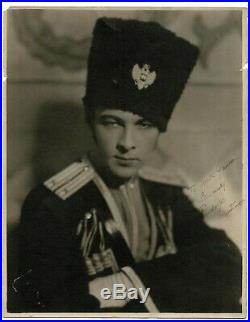 RUDOLPH VALENTINO inscribed, signed photo, Large 11x14, Silent Hollywood 1925