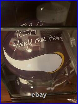 Randy Moss Autographed Full Sized Replica Helmet Inscribed With Beckett COA