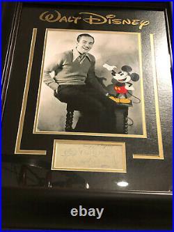 Rare Walt Disney Signed & Inscribed Full Jsa Loa Autograph Disneyland Bas Psa