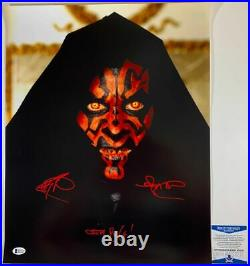 Ray Park Autographed Star Wars Darth Maul 16x20 Photo A Signed Inscribed BAS COA