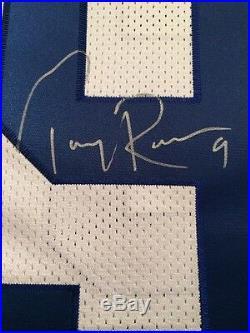 Reebok Auth #9 Tony Romo Signed Autograph Inscribed 23/109 Dallas Cowboys Jersey