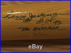 Reggie Jackson Autographed Signed Inscribed Cooperstown Bat LE 250 UDA