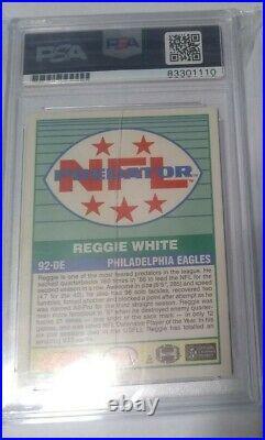 Reggie White Inscribed On Card HOF Auto PSA/DNA Cert