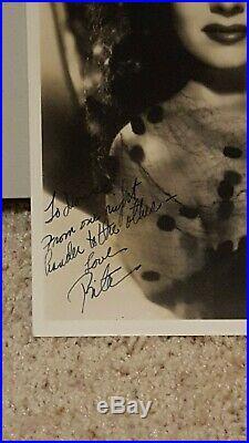 Rita Hayworth Signed Autograph Vintage Photo Jsa Authentication Inscribed