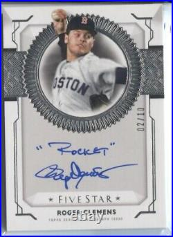 Roger Clemens 2019 Topps Five Star Rare Inscription Inscribed Rocket Auto /10