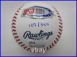 Ron Acuna / Autographed Inscribed 2018 Nl Roy Limited Editon Baseball / Jsa Coa