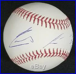 Ronald Acuna Autographed Baseball Inscribed MLB Debut 4-25-18 with JSA Witness COA