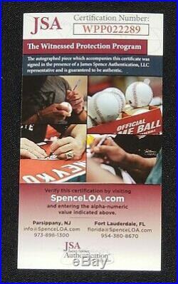Ronald Acuna Autographed OML Baseball Inscribed 2018 NL ROY with JSA Witness COA