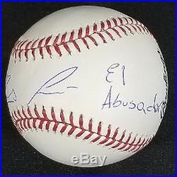 Ronald Acuna Autographed OML Baseball Inscribed El Abusador with JSA Witness COA