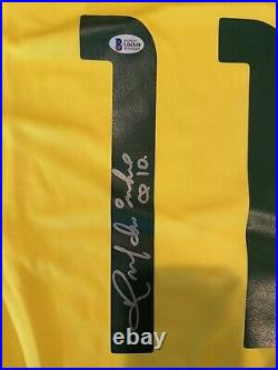 Ronaldinho Signed Autographed Brazil Jersey Inscribed R10 Beckett COA BAS