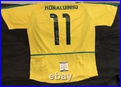 Ronaldinho Signed Autographed Team Brazil Jersey Inscribed R10 Beckett COA