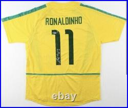 Ronaldinho Signed Jersey Inscribed R10 Team Brazil Autograph Beckett COA